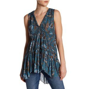 Free People Purple Haze Floral Tunic Size Medium